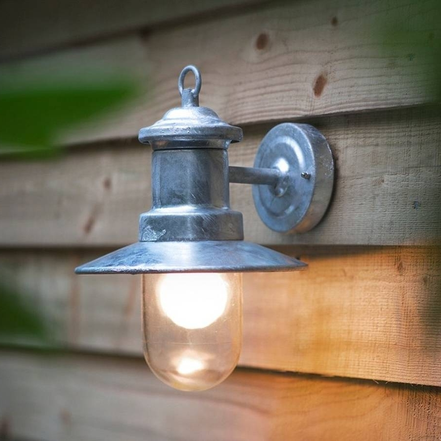 Trendy Galvanised Outdoor Wall Lightgarden Selections Within Northern Ireland Outdoor Wall Lights (View 17 of 20)