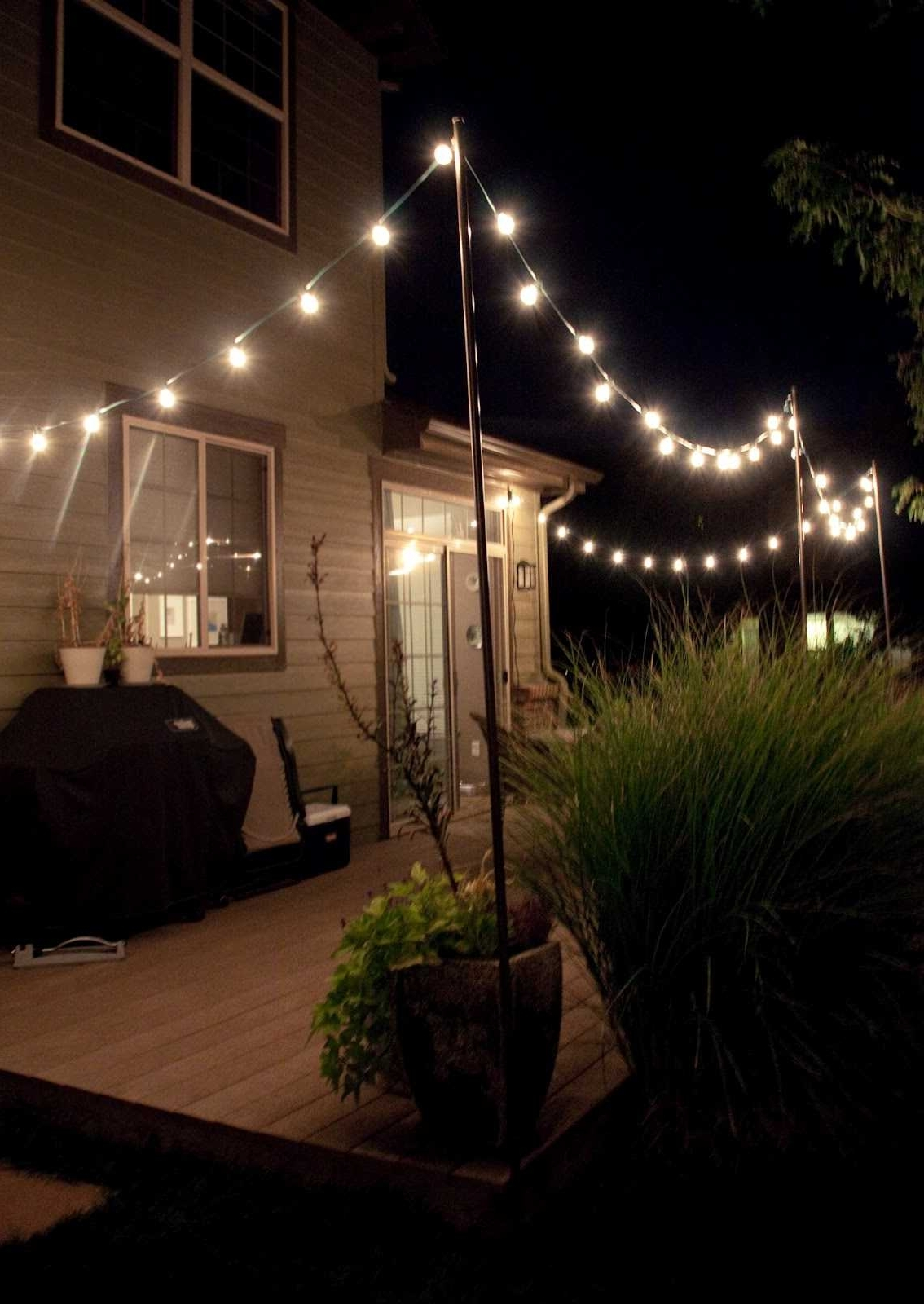 Trendy Hanging Outdoor Lights Without Nails In Best Way Hang String Lights Outdoors Ideas Patio Unique Interior (View 14 of 20)