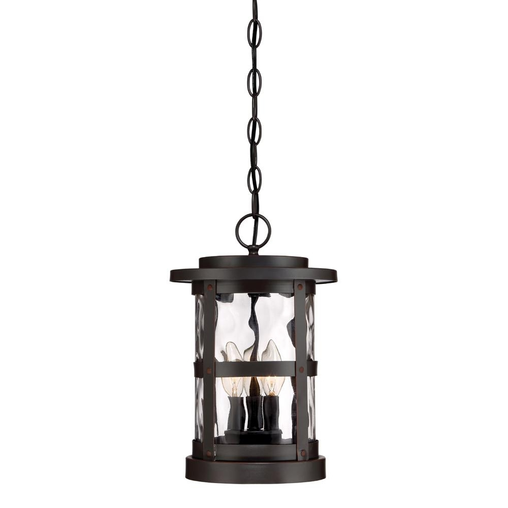 Trendy Hanging Outdoor Tea Light Lanterns Pertaining To Designers Fountain Terraza 3 Light Satin Bronze Outdoor Hanging (View 19 of 20)