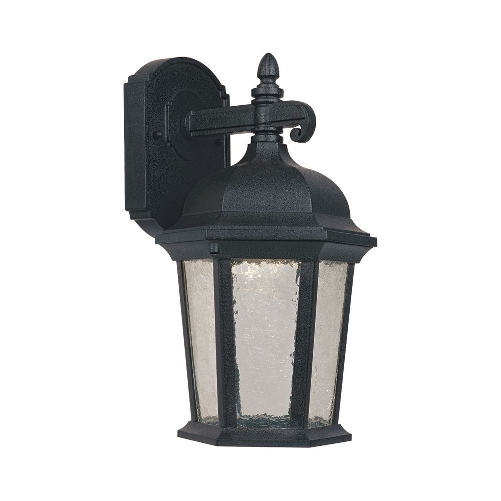 Trendy Led Outdoor Wall Light With Clear Glass In Driftwood Finish Inside Brisbane Outdoor Wall Lighting (View 2 of 20)