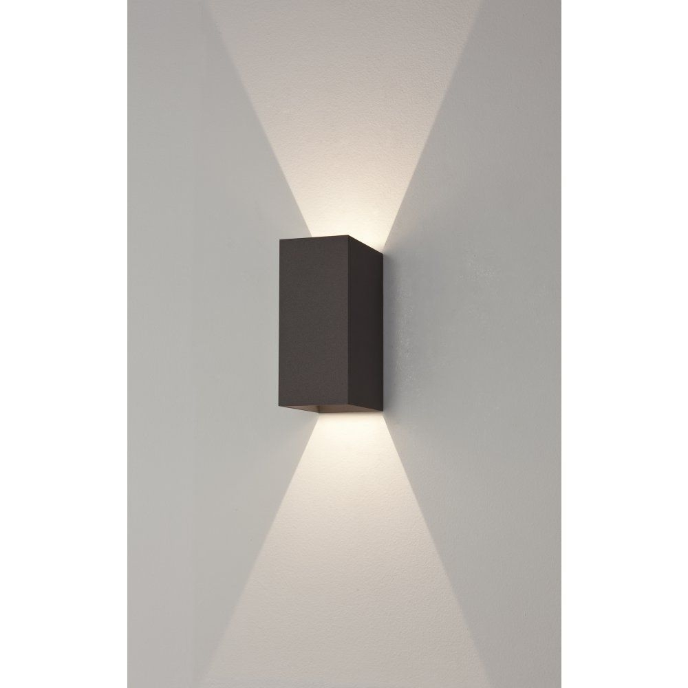 Trendy Led Outdoor Wall Lighting Regarding Astro 7061 Oslo 160 2 Light Led Outdoor Wall Light Ip65 Black (View 18 of 20)