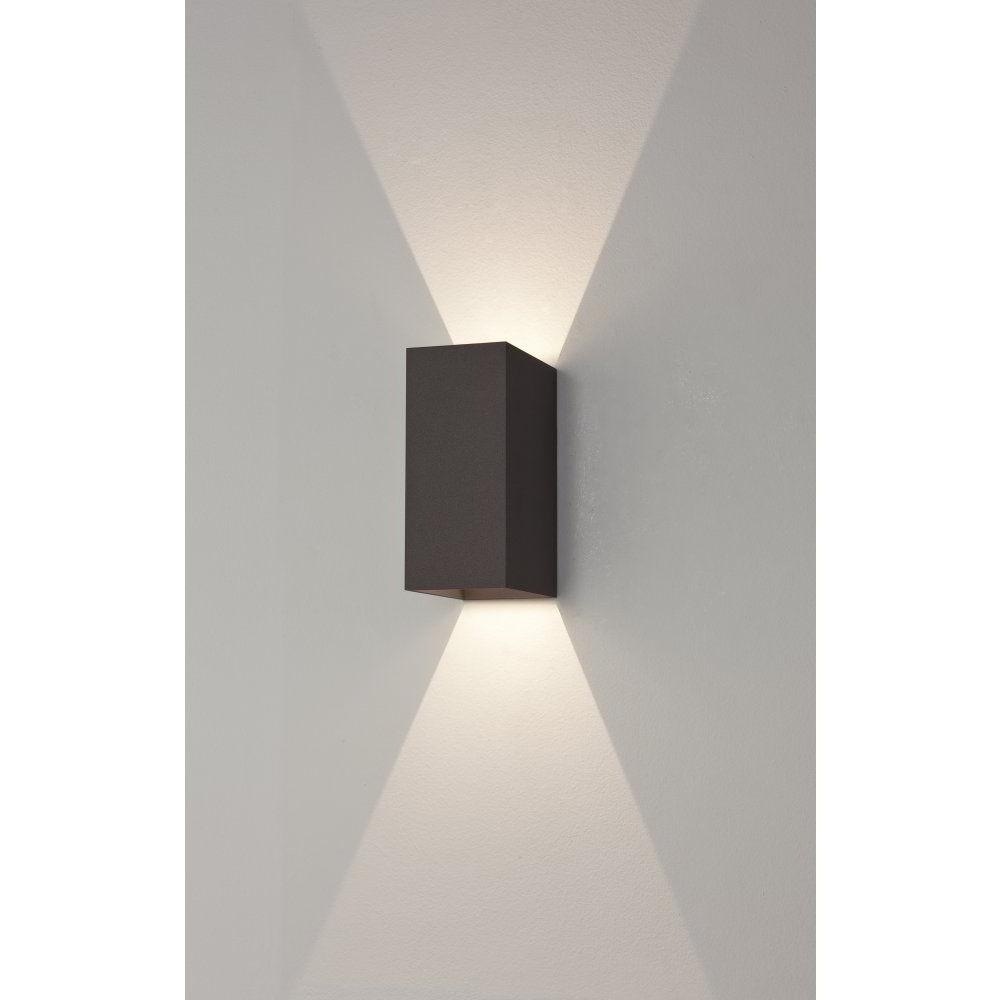 Trendy Led Outdoor Wall Lighting Regarding Astro 7061 Oslo 160 2 Light Led Outdoor Wall Light Ip65 Black (View 17 of 20)