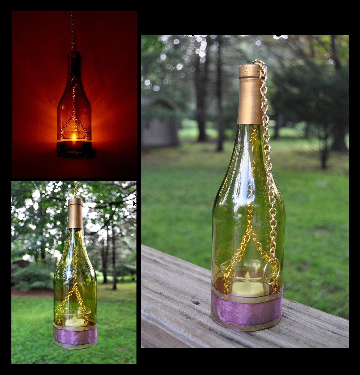Trendy Making Outdoor Hanging Lights From Wine Bottles Pertaining To Light: Wine Bottle Lights Hanging (View 20 of 20)