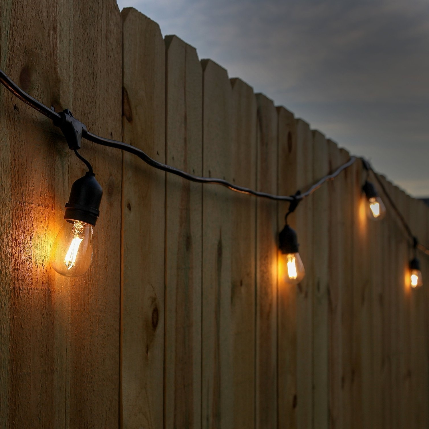 Trendy Newhouse Lighting 48 Foot Outdoor String Lights, Led Bulbs Included For Outdoor Hanging String Light Bulbs (View 17 of 20)