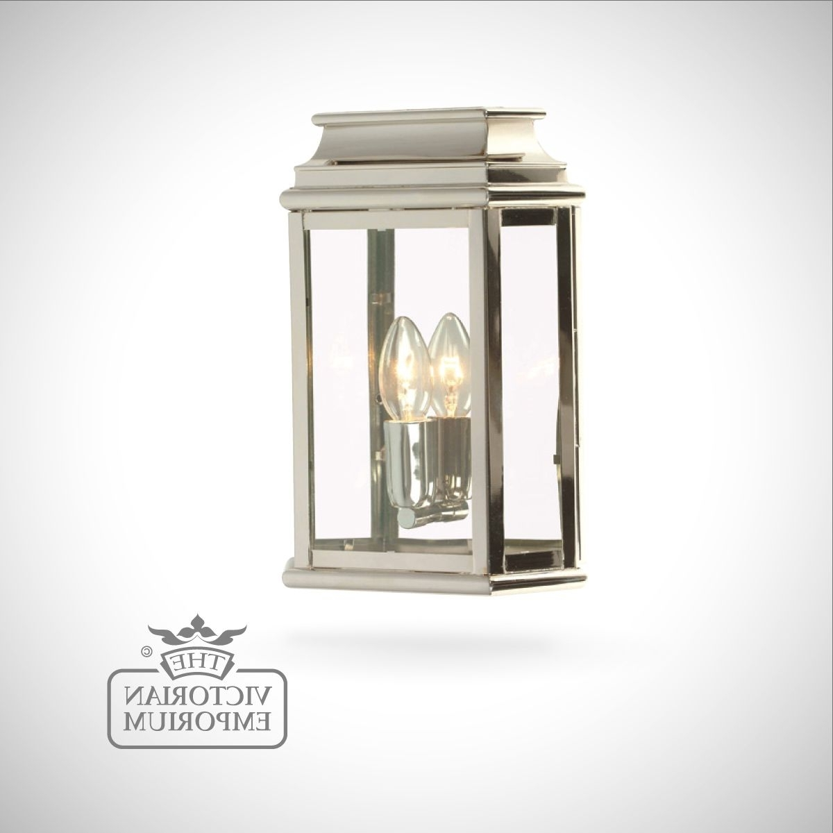 Trendy Nickel Outdoor Wall Lighting Inside Martins Brass Wall Lantern – Polished Nickel (View 15 of 20)