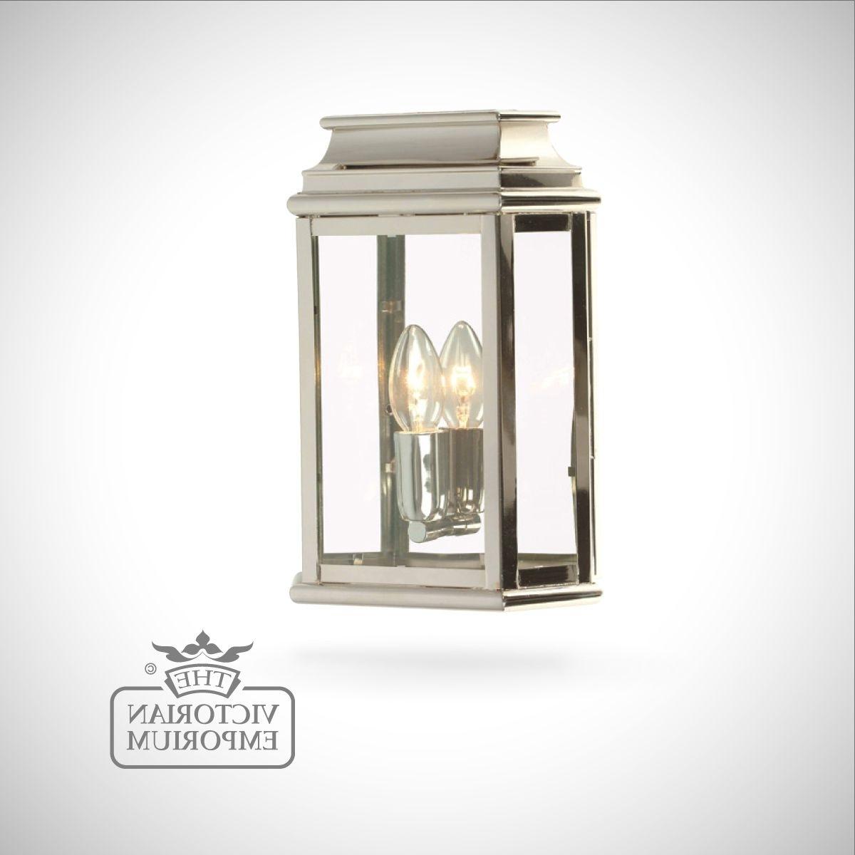 Trendy Nickel Outdoor Wall Lighting Inside Martins Brass Wall Lantern – Polished Nickel (View 17 of 20)