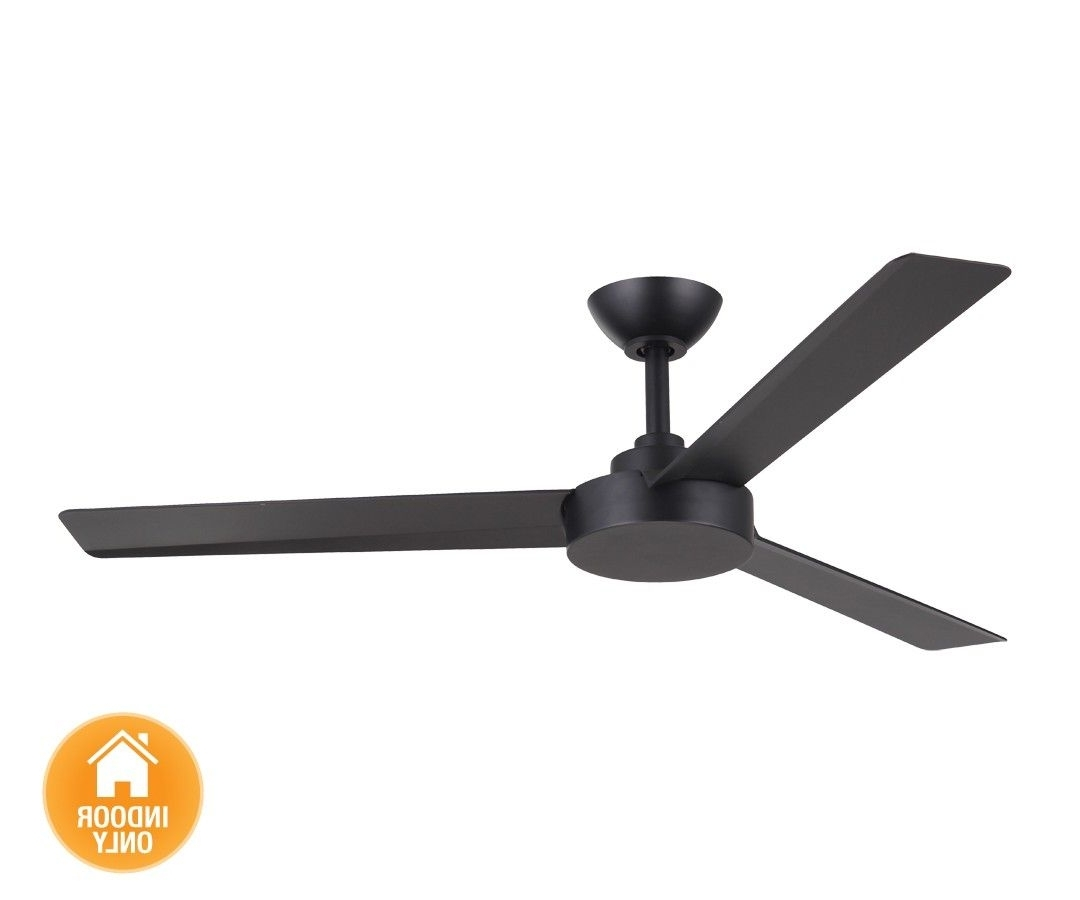 Trendy Outdoor Ceiling Fan Beacon Lighting With Regard To Beacon Lighting – Minka Aire Roto 3 Blade Ceiling Fan Only In Matt (View 7 of 20)