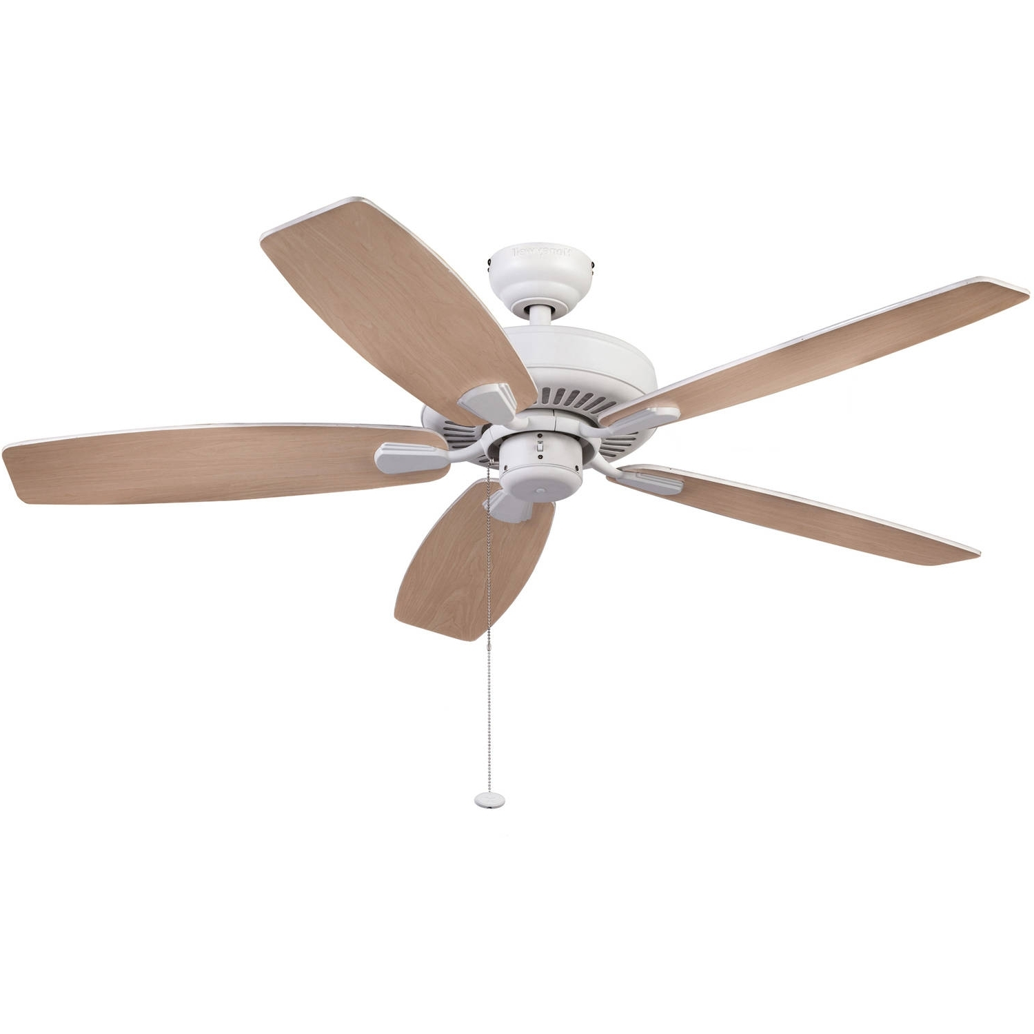 """Trendy Outdoor Ceiling Fans With Lights At Walmart With Regard To 52"""" Honeywell Blufton Outdoor Ceiling Fan, White – Walmart (View 12 of 20)"""
