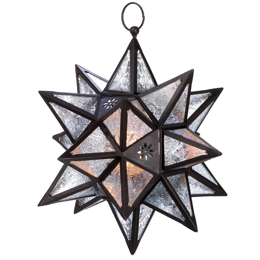 Trendy Outdoor Hanging Star Lanterns Pertaining To Stars Lantern, White Decorative Mercury Glass Candle Lantern Holder (View 17 of 20)