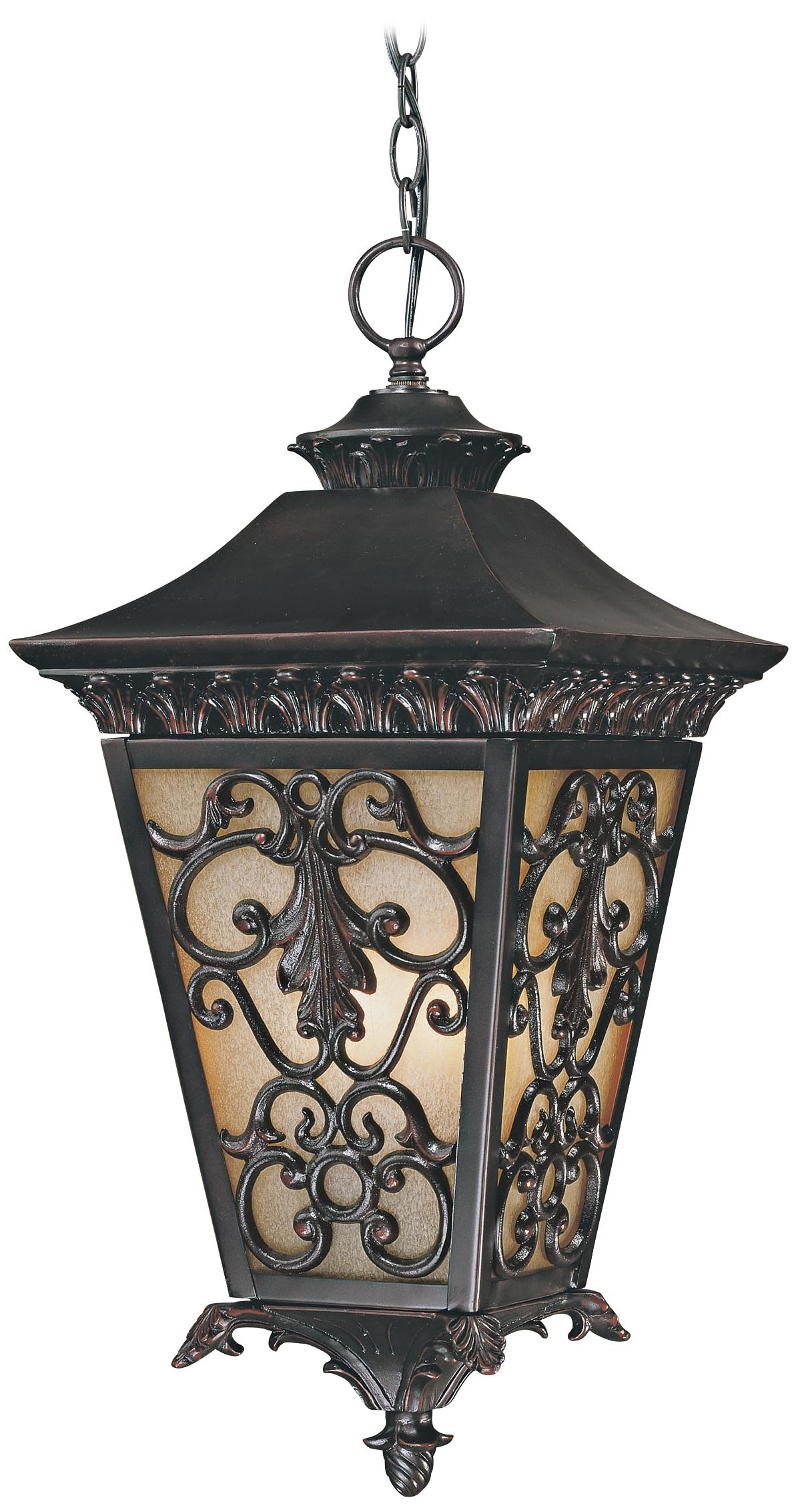 Trendy Outdoor Iron Hanging Lights Throughout Bientina Collection 23 1/4 High Outdoor Hanging Light – (Gallery 7 of 20)