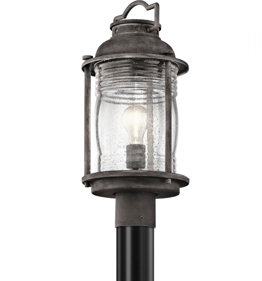 Trendy Outdoor Post Lights Kichler Lighting With Regard To Kichler 49573Wzc Ashland Bay Retro Weathered Zinc Outdoor Lamp Post (View 19 of 20)