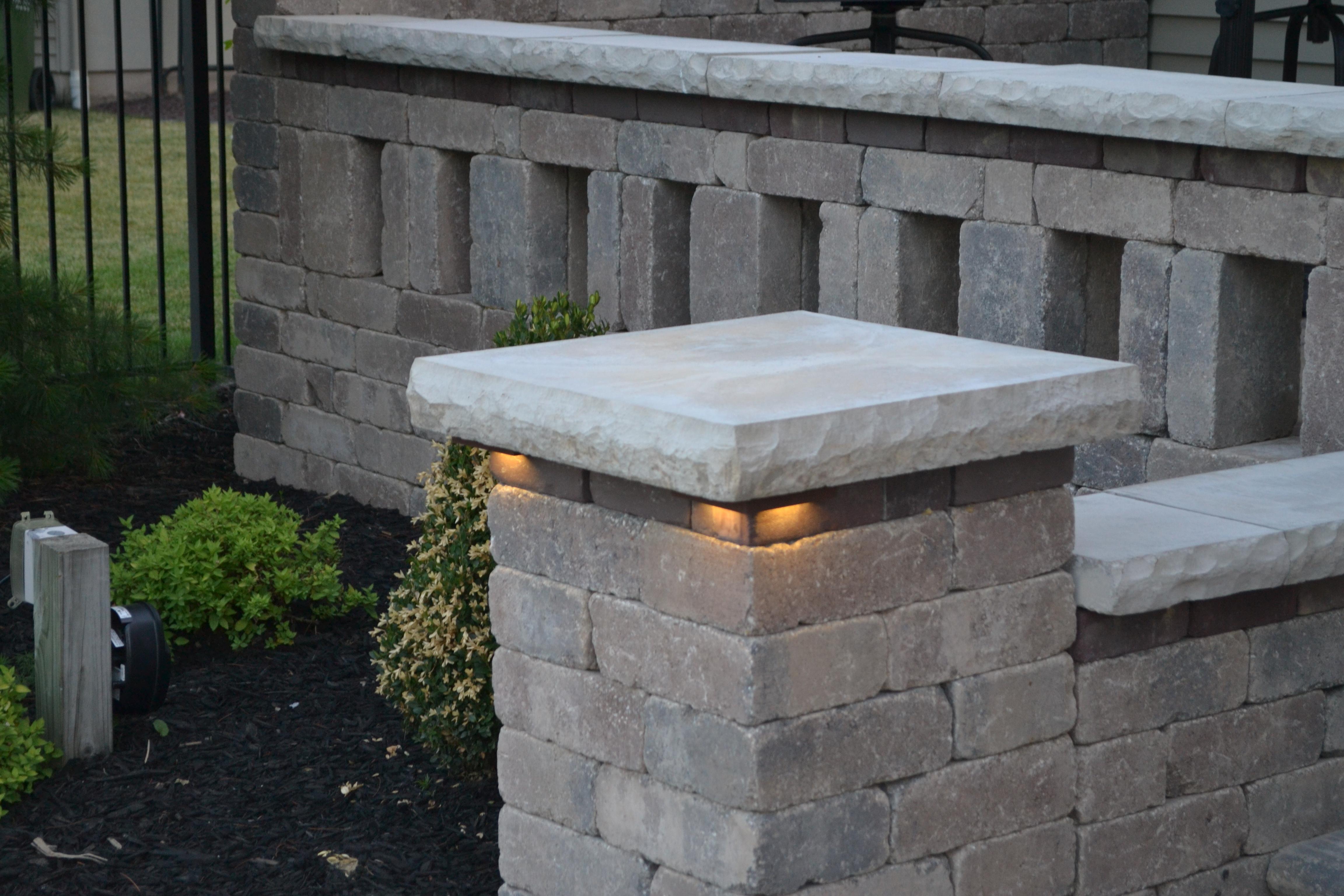 Trendy Outdoor Retaining Wall Lighting Throughout Retaining Wall Lights : Tri North Lighitng, Inc (View 10 of 20)