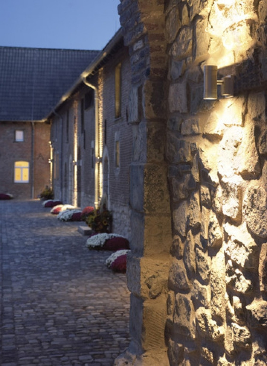 Trendy Outdoor Stone Wall Lighting Inside Outdoor And Patio: Exterior Wall Lighting Design Ideas With White (View 10 of 20)