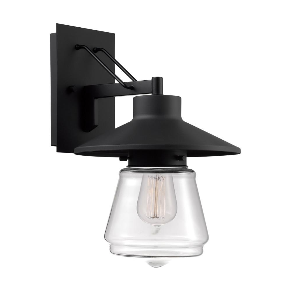 Trendy Outdoor Wall Mounted Globe Lights Regarding Globe Electric Montgomery 1 Light Black Outdoor Wall Mount Sconce (View 17 of 20)