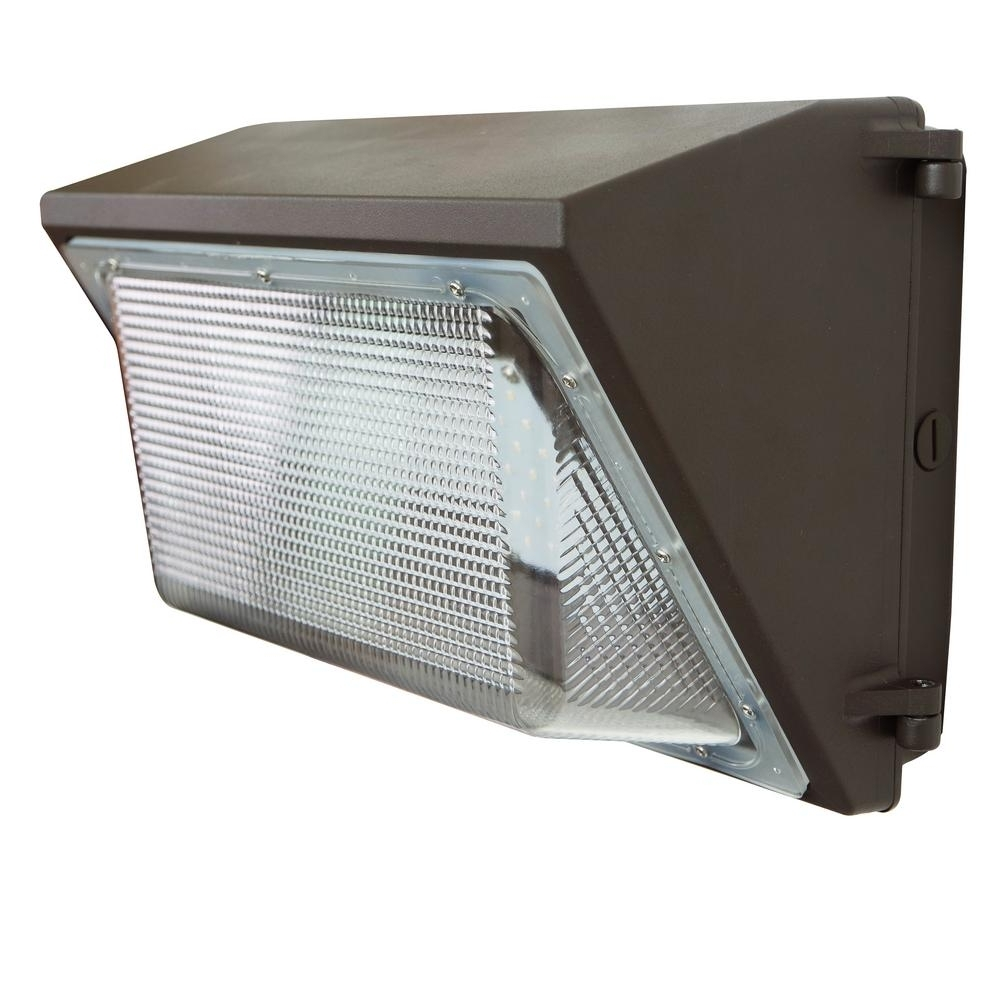 Trendy Outdoor Wall Pack Lighting Regarding J&h Led Wall Pack 100 Watt Bronze Outdoor Integrated Led Industrial (View 20 of 20)