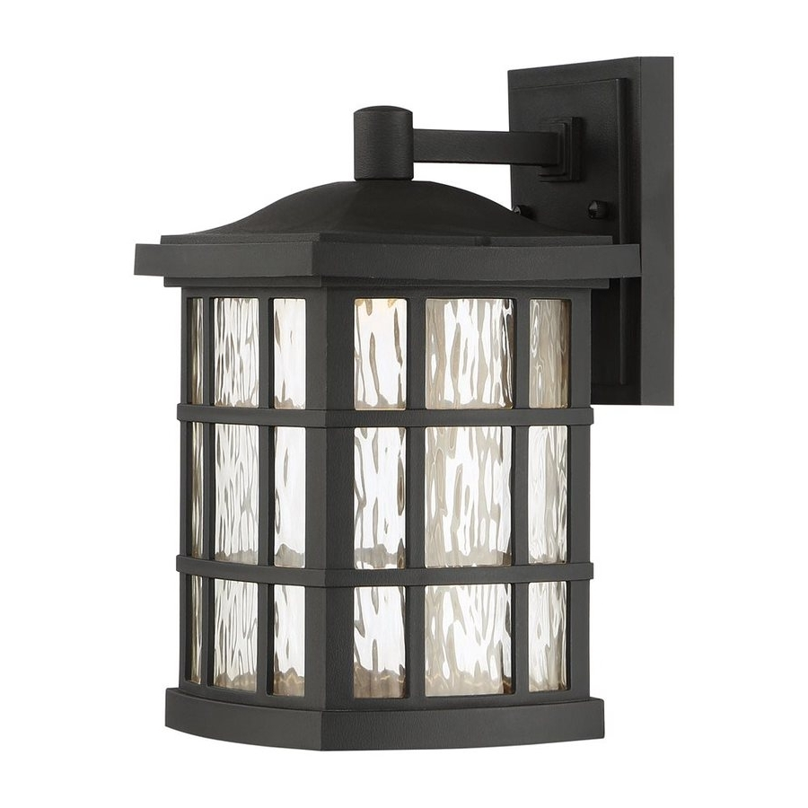 Trendy Quoizel Outdoor Wall Lighting In Shop Quoizel Stonington 13 In H Mystic Black Led Outdoor Wall Light (View 12 of 20)