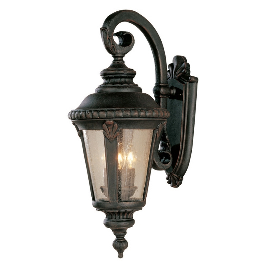 Trendy Shop Bel Air Lighting Rust Outdoor Wall Light At Lowes Pertaining To Outdoor Wall Lighting At Lowes (View 10 of 20)