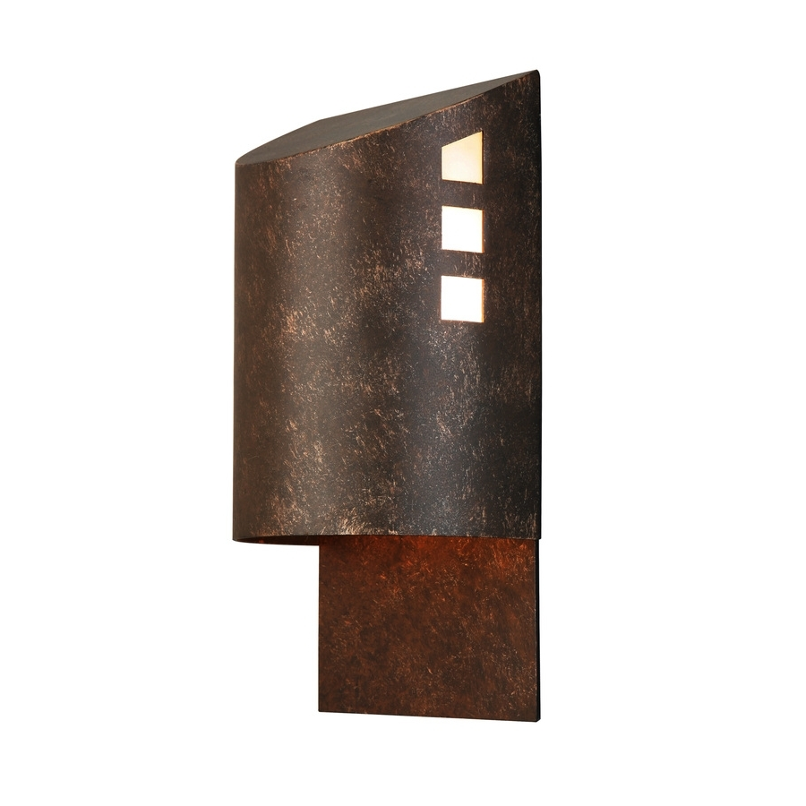 Trendy Shop Portfolio 12 In H Specialty Bronze Dark Sky Outdoor Wall Light Regarding Dark Sky Outdoor Wall Lighting (View 8 of 20)