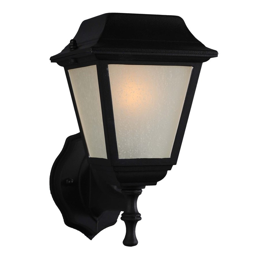 Trendy Solar Led Outdoor Wall Lighting For Shop Volume International 11 In H Led Black Solar Outdoor Wall Light (View 19 of 20)