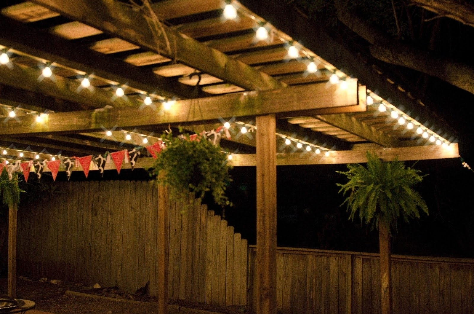 Trendy South Africa Outdoor Hanging Lights Throughout Homemade Patio String Lights Ideas — The Kienandsweet Furnitures (View 17 of 20)