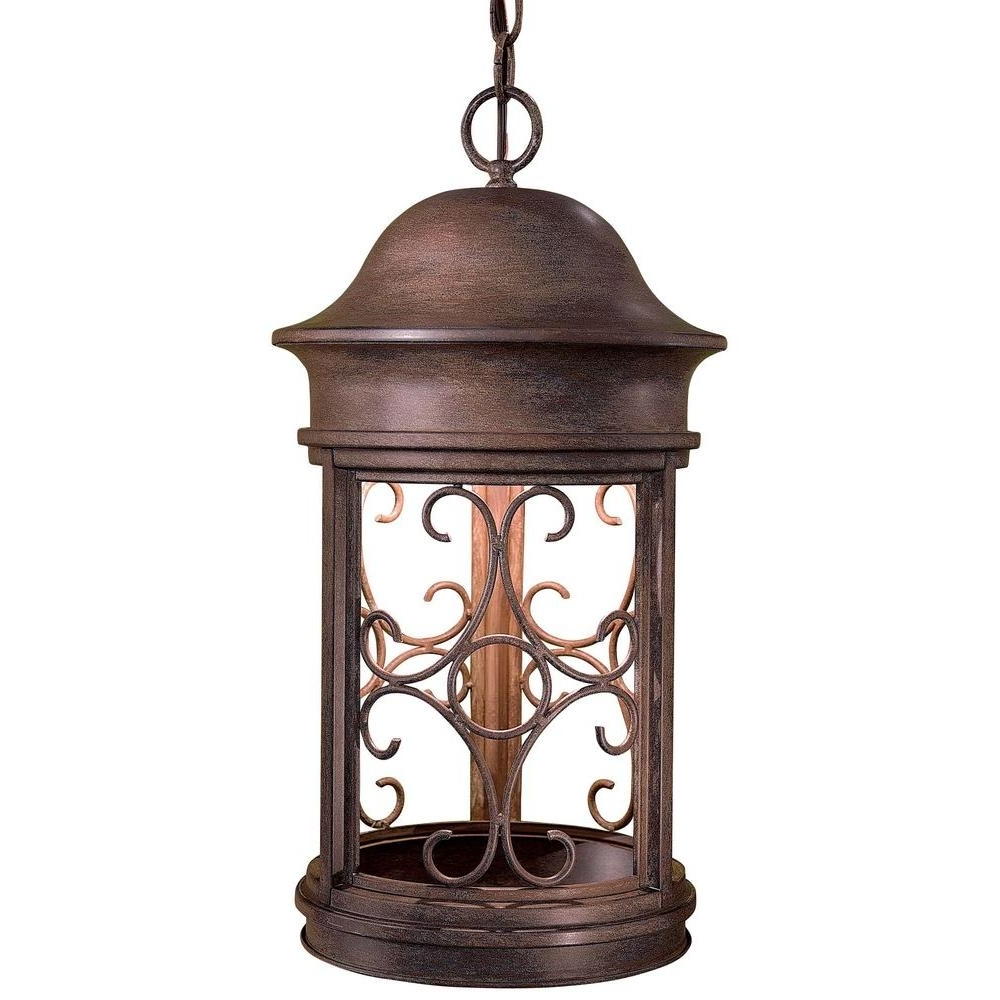Trendy The Great Outdoorsminka Lavery Sage Ridge Vintage Rust 1 Light With Indoor Outdoor Hanging Lights (View 19 of 20)