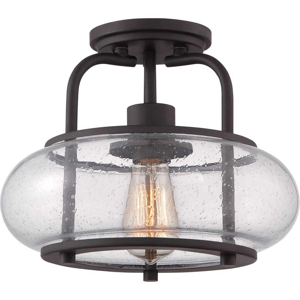 Trg1712Oz – Quoizel Lighting Trg1712Oz 1 Light Trilogy Semi Flush With Regard To Most Recently Released Bronze Outdoor Ceiling Lights (View 19 of 20)
