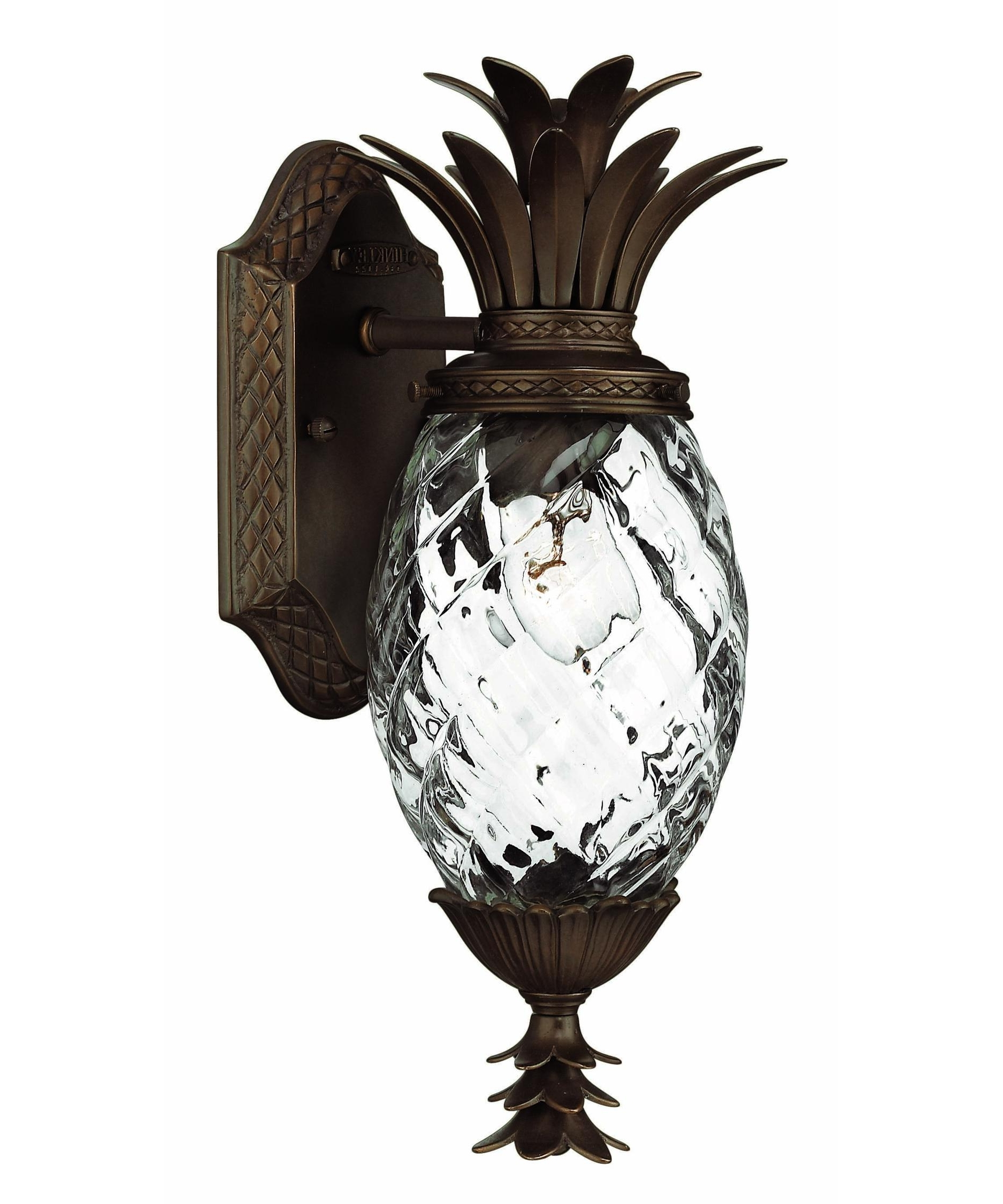 Tropical Outdoor Wall Lighting With 2018 Hinkley Lighting 2226 Plantation Exterior 6 Inch Wide 1 Light (View 17 of 20)