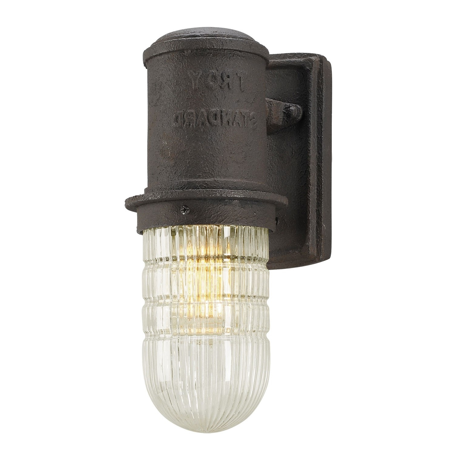 Troy Bf4341 Dock Street 4 1 2 W 1 Light Outdoor Wall Sconce In Regarding Newest Troy Lighting Outdoor Wall Sconces (View 9 of 20)