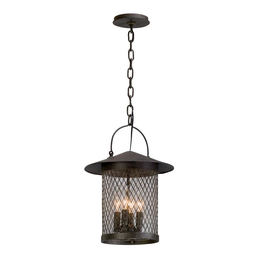 Troy Lighting Altamont 4 Light French Iron Outdoor Pendant F5177 Within Favorite Troy Outdoor Hanging Lights (View 11 of 20)