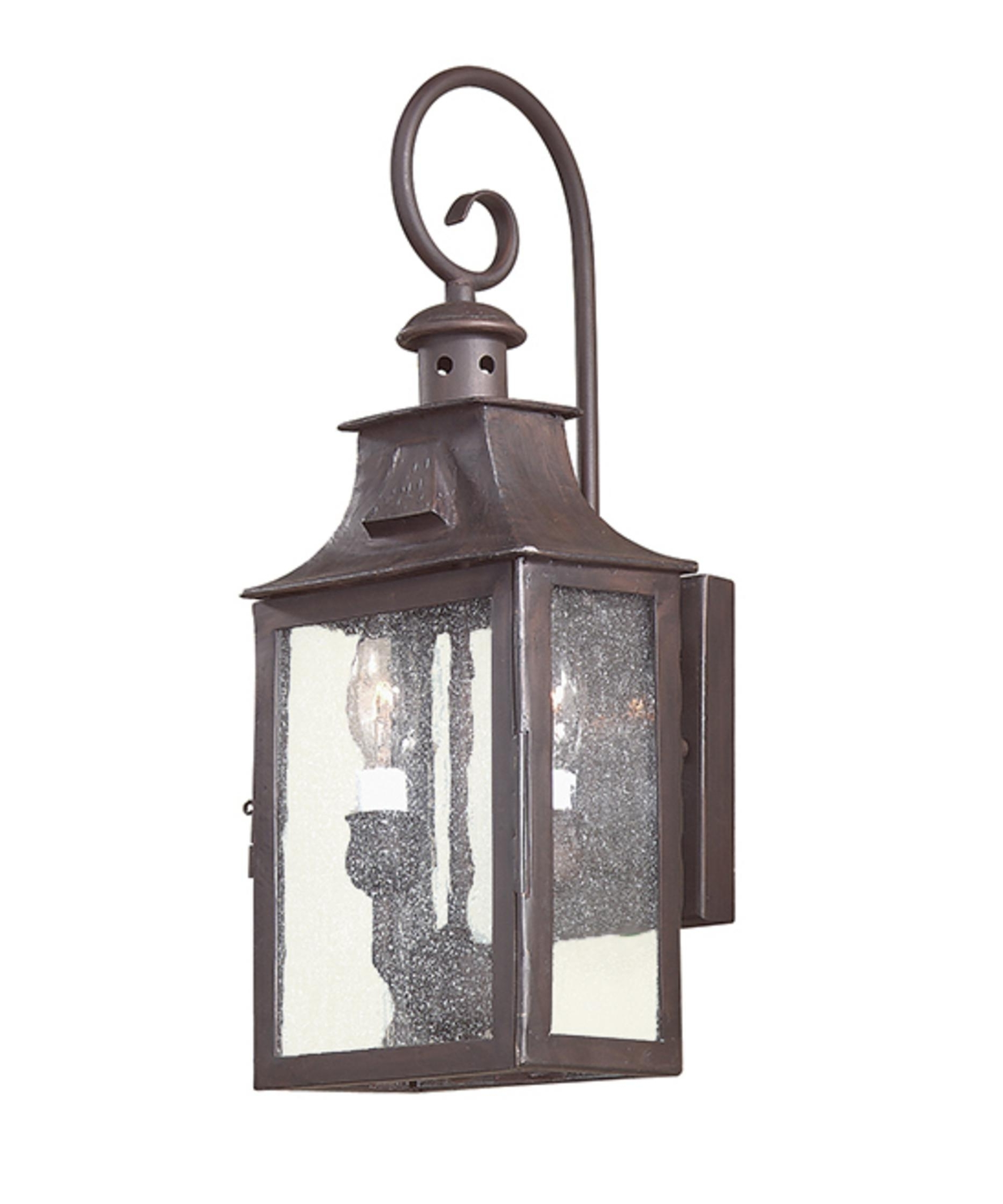 Troy Lighting B9001 Newton 7 Inch Wide 2 Light Outdoor Wall Light With Regard To Well Liked Outdoor Hanging Wall Lanterns (View 5 of 20)