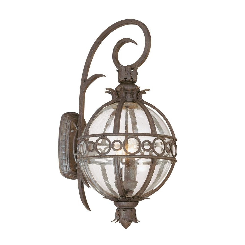 Troy Lighting Campanile 3 Light Campanile Bronze Outdoor Wall Mount Throughout Newest Tropical Outdoor Wall Lighting (View 16 of 20)