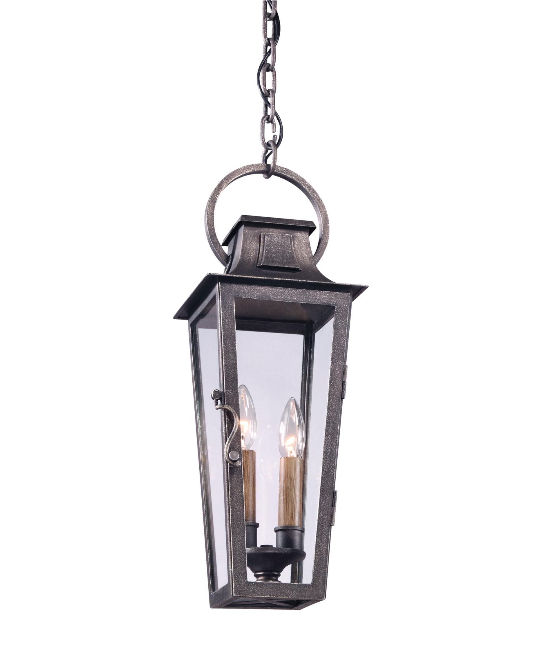 Troy Lighting F2966 French Quarter 7 Inch Wide 2 Light Outdoor Inside Most Current Outdoor Hanging Carriage Lights (View 17 of 20)
