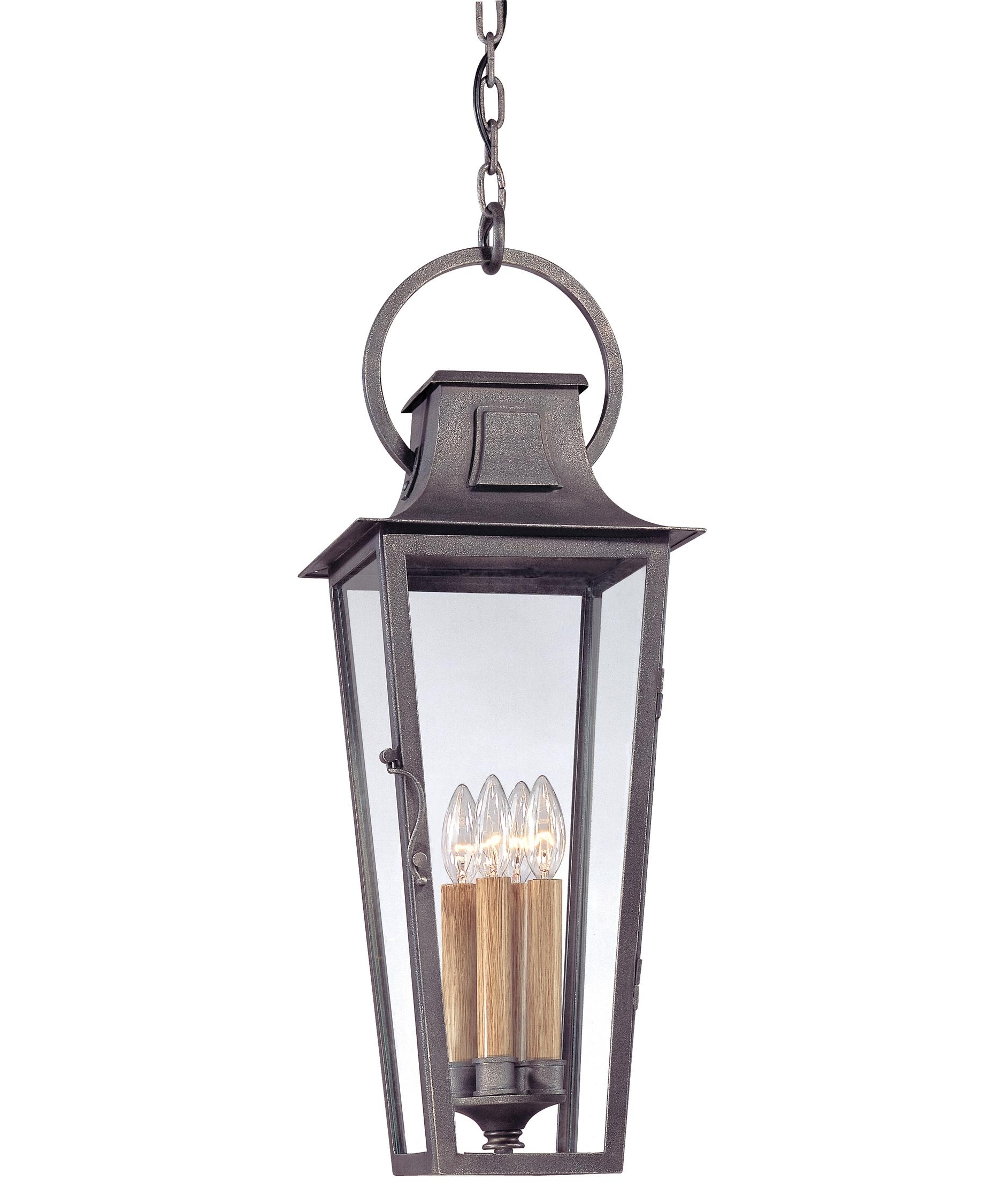 Troy Lighting F2967 French Quarter 10 Inch Wide 4 Light Outdoor Throughout Well Liked Outdoor Hanging Coach Lanterns (View 18 of 20)