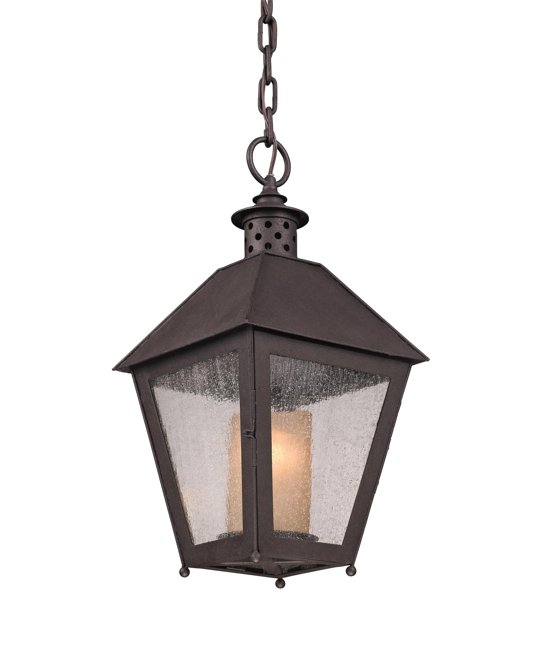 Troy Lighting F3297 Sagamore 10 Inch Wide 1 Light Outdoor Hanging With Newest Outdoor Hanging Glass Lanterns (View 15 of 20)