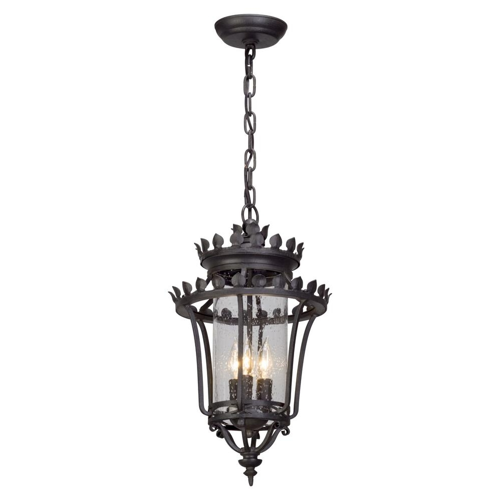 Troy Lighting Greystone 3 Light Forged Iron Outdoor Pendant F5137 Intended For Best And Newest Troy Outdoor Hanging Lights (View 14 of 20)
