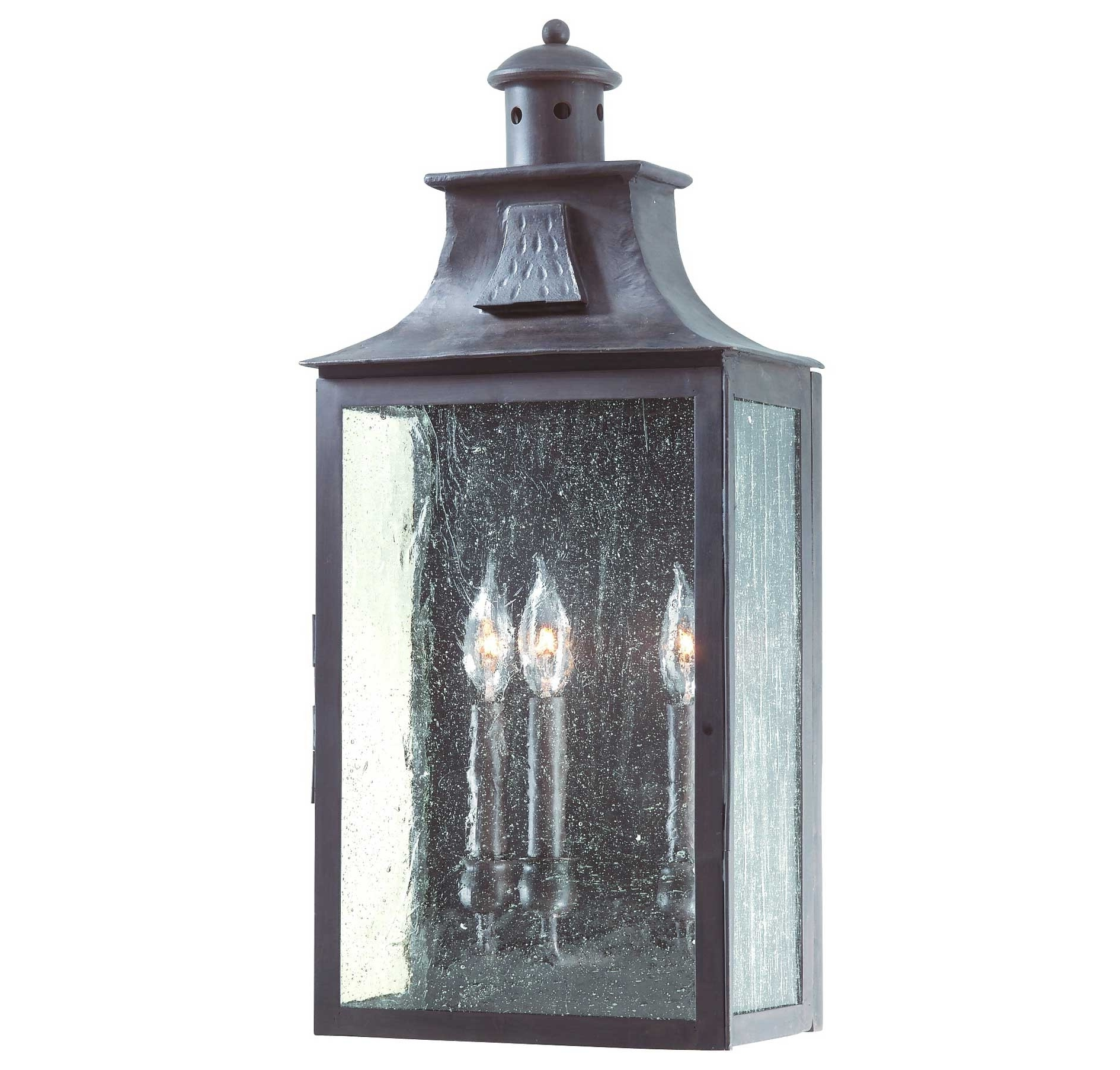 Troy Lighting Outdoor Wall Sconces Inside Famous Troy Lighting Bcd9009Obz Newton 3 Light Wall Pocket Lantern In (View 14 of 20)