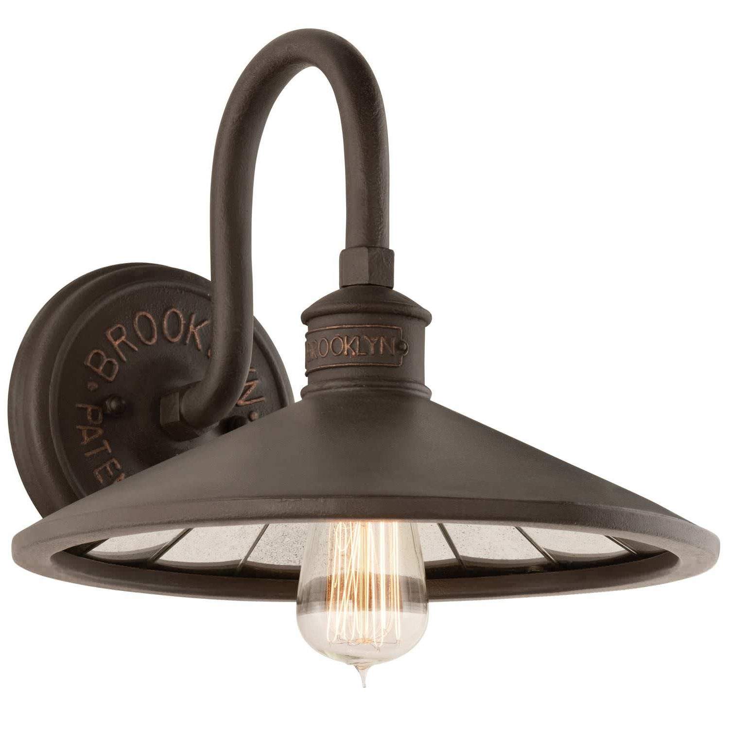 Troy Lighting Outdoor Wall Sconces Inside Well Known Traditional Wall Light / Bronze / Handmade – Sconce : Brooklyn B (View 16 of 20)