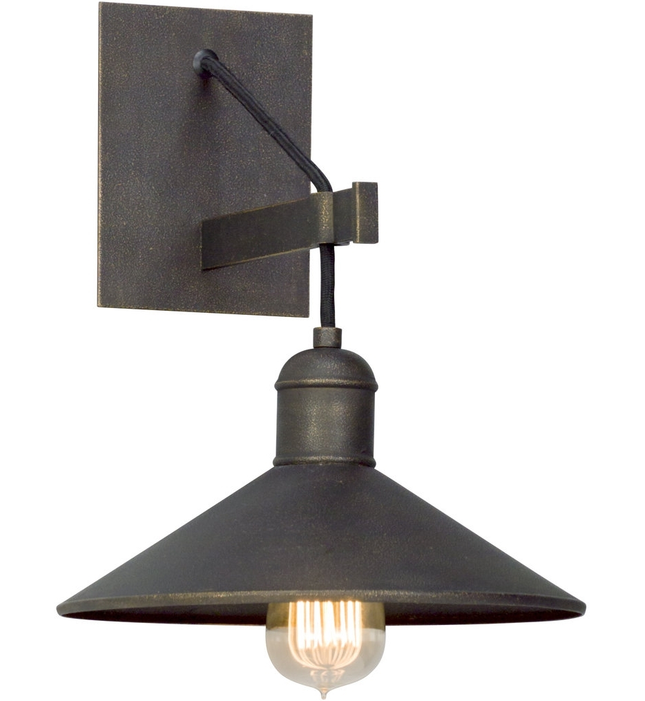 Troy Lighting Outdoor Wall Sconces Intended For Newest Troy Lighting – B5421 – Mccoy Vintage Bronze 1 Light Wall Sconce (View 9 of 20)