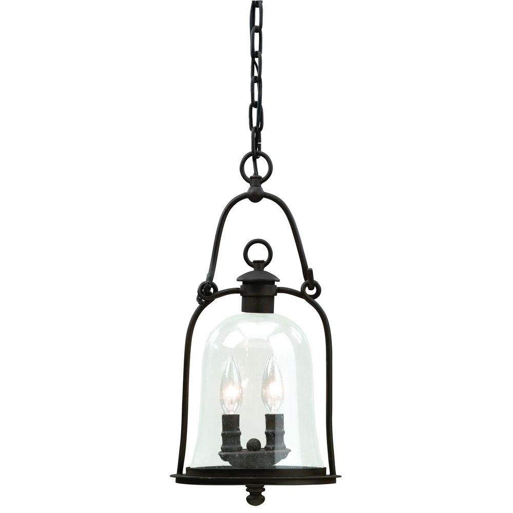 Troy Lighting Owings Mill 2 Light Natural Bronze Outdoor Pendant In 2018 Troy Outdoor Hanging Lights (View 12 of 20)