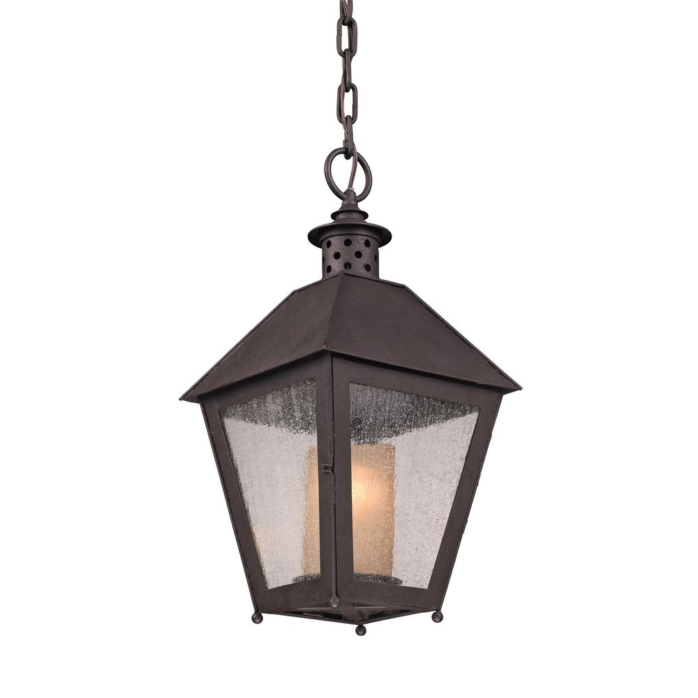Troy Lighting Sagamore 1 Light Centennial Rust Outdoor Pendant F3297 For Best And Newest Troy Outdoor Hanging Lights (View 16 of 20)
