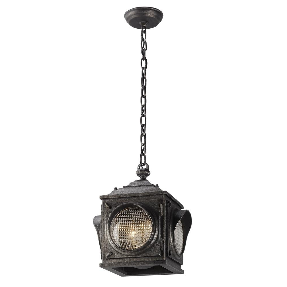 Troy Outdoor Hanging Lights With Regard To 2019 Troy Lighting Main Street 2 Light Aged Pewter Outdoor Pendant F (View 2 of 20)