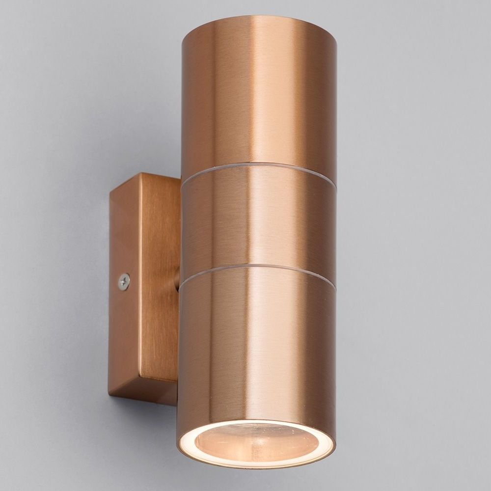 Up Down Outdoor Wall Lighting Pertaining To Well Known Kenn Up & Down Light Outdoor Wall Light – Copper From Litecraft (Gallery 14 of 20)