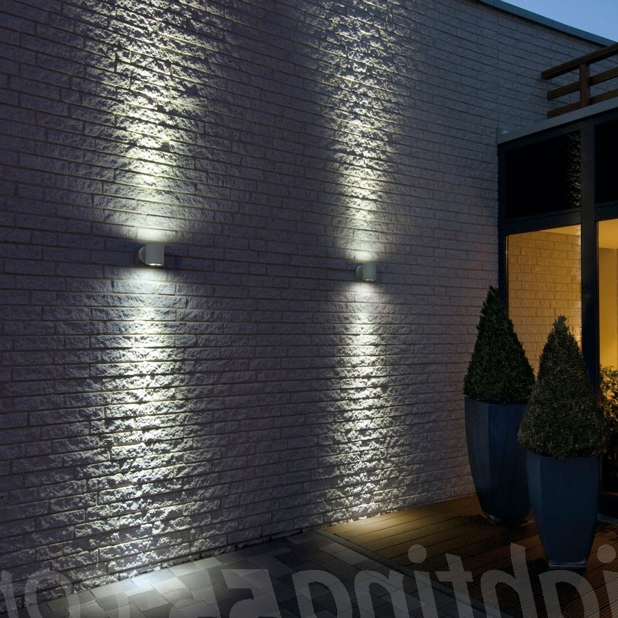 Up Down Outdoor Wall Lighting Pertaining To Widely Used Outdoor Up And Down Lights Sitra Wall Lightslv Lighting At (Gallery 6 of 20)