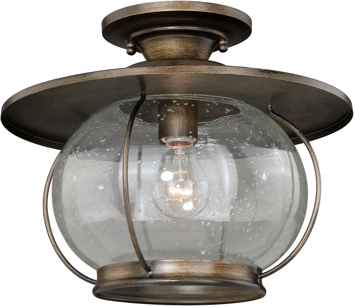 Vaxcel C0078 Jamestown Nautical Parisian Bronze Outdoor Flush With Regard To 2018 Bronze Outdoor Ceiling Lights (View 12 of 20)