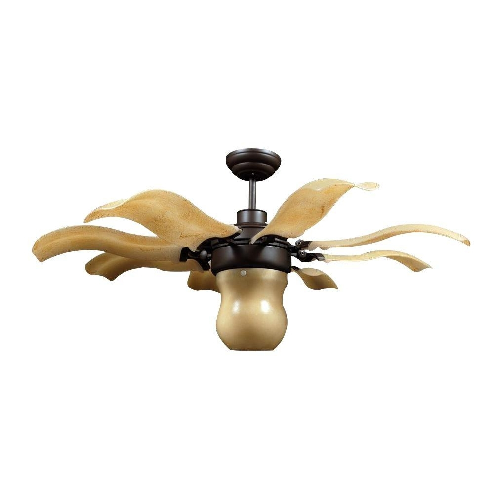 Vento Fiore 42 In. Indoor Roman Bronze Retractable Ceiling Fan With Within Well Known Outdoor Ceiling Fans With Remote Control Lights (Gallery 18 of 20)