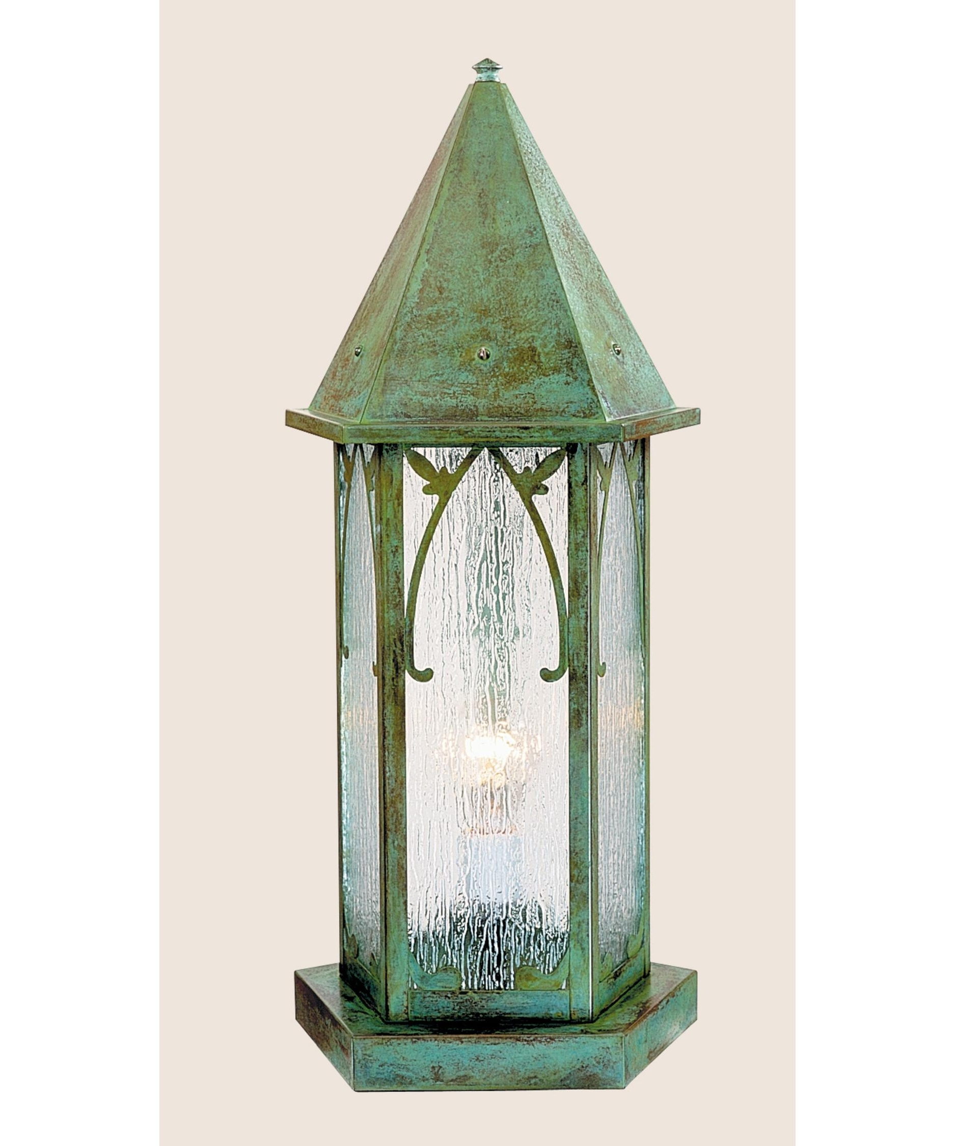 Verdigris Outdoor Wall Lighting Throughout Most Recently Released Arroyo Craftsman Sgc 7 Saint George 1 Light Outdoor Pier Lamp (View 19 of 20)