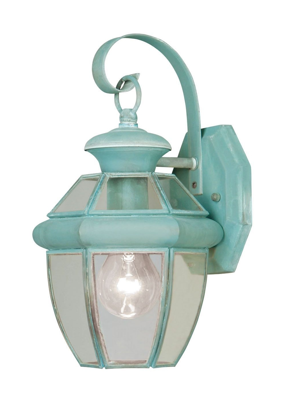Verdigris Outdoor Wall Lighting Throughout Newest Livex Lighting Monterey Verdigris Outdoor Wall Lantern 2051 (View 8 of 20)