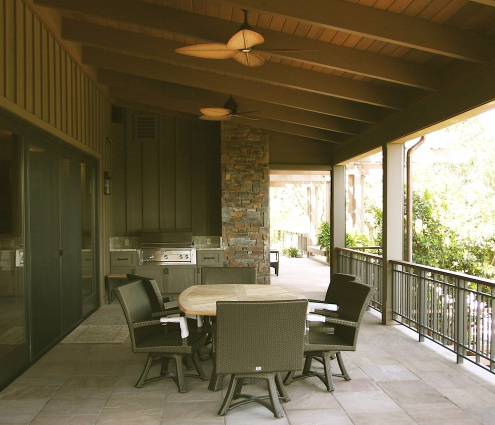 Viking Outdoor Grill Porch Rustic With Rock Wall Wall Lighting With Regard To Popular Outdoor Rock Wall Lighting (Gallery 18 of 20)