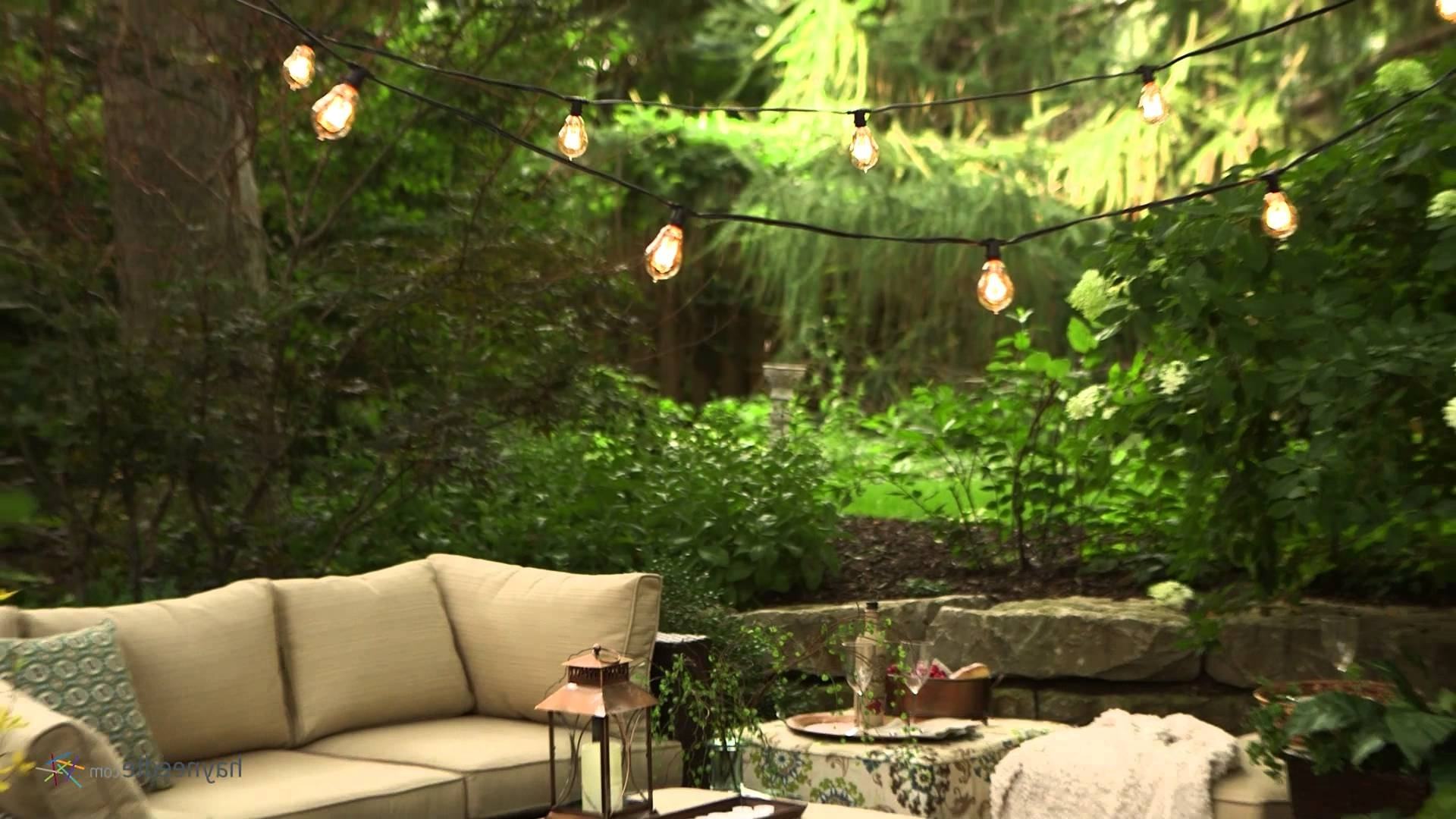 Vintage Outdoor Hanging Lights Inside Newest Bulbrite Outdoor String Light With Vintage Edison Bulbs – Product (View 8 of 20)