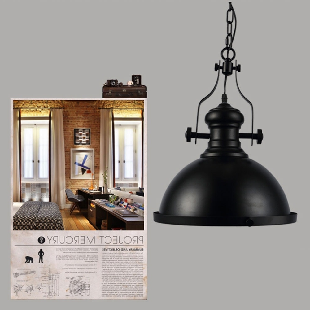 Vintage Outdoor Hanging Lights Pertaining To Well Known Vintage Industrial Copper Retro Glass Bigclock Ceiling Lamp Picture (View 19 of 20)
